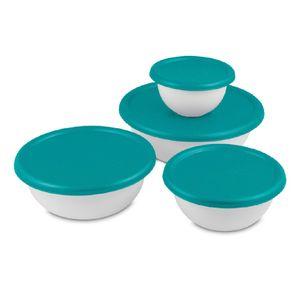 Bowl Con Tapa Sterilite Juego De 8 Piezas