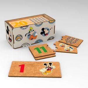 Juego De Números Mickey Mouse De Madera