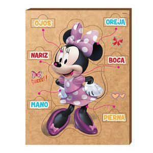 Rompecabezas Minnie Mouse Partes Del Cuerpo