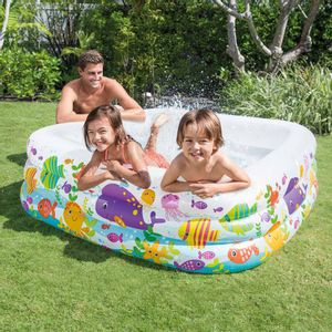 "Piscina Inflable Intex Sea Aquarium  62.5"" x 62.5"" cm x 19.5"""