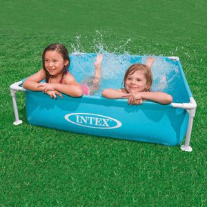 Piscina Intex Mini Frame Azul 122 cm x 122 cm x 30 cm