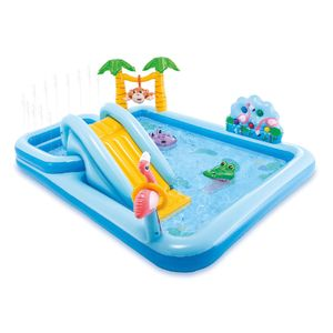 Piscina Inflable Intex Centro De Juego Jungle Adventure 257 cm x 216 cm x 84 cm