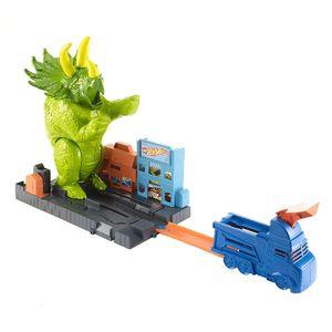 Pista De Carros Hot Wheels Triceratops Destructor