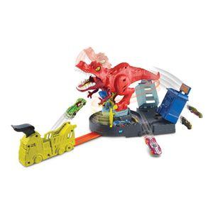 Pista De Carros Hot Wheels T-Rex Demoledor