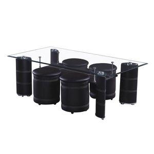 Mesa De Centro Elements Furnitue Con 4 Bancos