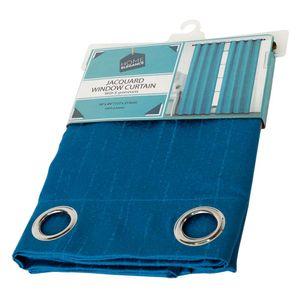 "Cortina Home Elegance Con Aro 54"" x 84"" Azul Mar"