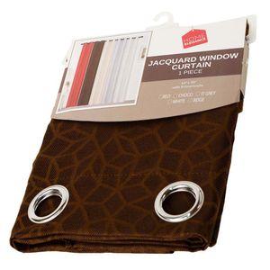 "Cortina Home Elegance Con Aro 54"" x 90"" Chocolate"