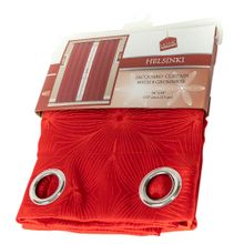 Cortina Home Elegance Color Rojo