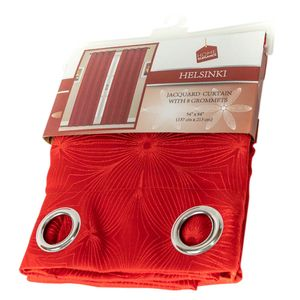 Cortina Home Elegance Color Rojo