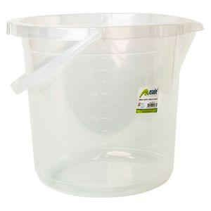 Cubo Plástico Transparente Asude 14 L