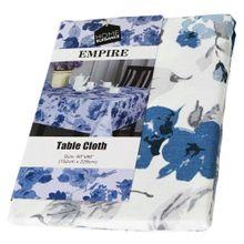 """Mantel Home Elegance Floreado Empire Azul 60""""x 90"""""""
