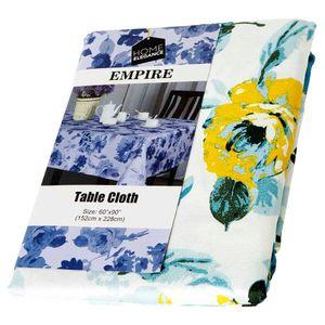 """Mantel Home Elegance Floreado Empire Teal 60""""x 90"""""""