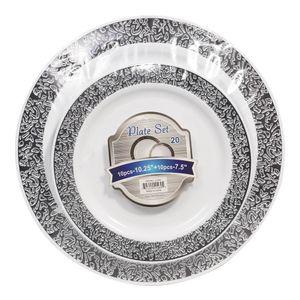 Platos Llanos Desechables Cookinex Plástico de 20 Piezas