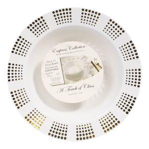 Platos Hondos Empress Desechables de Plástico 12 oz de 10 Piezas