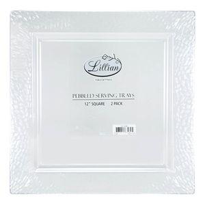 Bandejas de Plástico Lillian Cuadradas de 2 Piezas