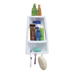 Organizador de Baño Esquinero Rimax de Plástico 3 Niveles