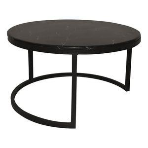 Mesa de Centro Elments Furniture con Apariencia de Mármol 80 cm