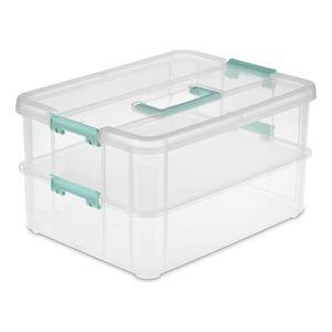 Caja Multiuso Sterilite Plástico Con Tapa 36.5 cm  x 27.3 cm  x 19.7 cm
