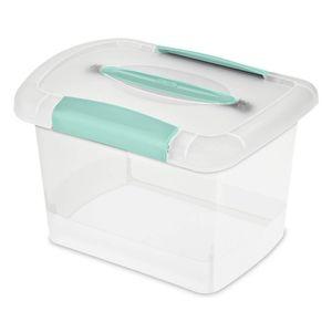 Caja Multiuso Sterilite Plástico Con Tapa de 17.8 cm x 20 cm x 26.7 cm