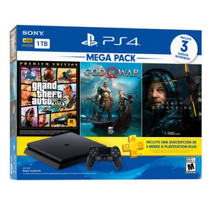 Consola Play Station 4 Slim Negro 1TB Megapack 13