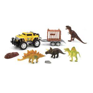 Camión Trailer Con Dinosaurio Set 9 Piezas - Surtido