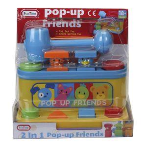 Caja Sorpresa Con Martillo Pop-up Friends 2 en 1