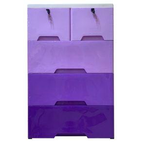 Gavetero de 4 Niveles Elements Furniture 5 Gavetas Plástico