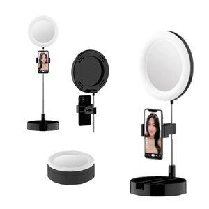Aro de Luz Con Espejo y Soporte Para Celular
