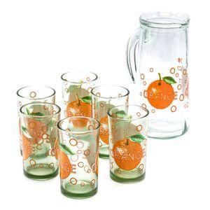 Vasos Con Jarra de Vidrio Home Elegance 7 Piezas - Surtido