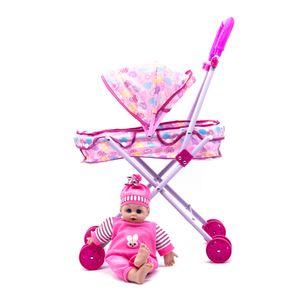 Muñeco Bebe Star Toys Con Coche de Metal