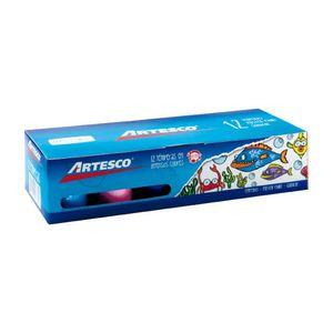 Tempera Artesco Con Pincel 20 ml - 12 Colores
