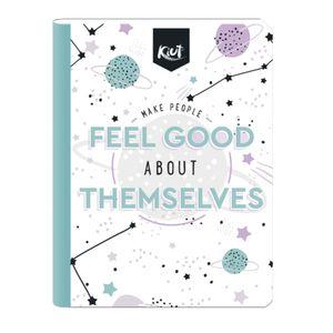 Cuaderno Cosido Mediano Raya Ancha Norma Kiut de 200 Páginas