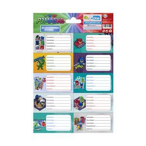 Etiquetas Escolares Pj Masks de 20 Piezas