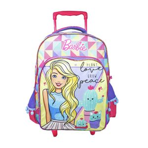 """Mochila Barbie Captus Con Ruedas de 17"""""""