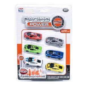 Carritos Racing Power Star Toys 6 Piezas