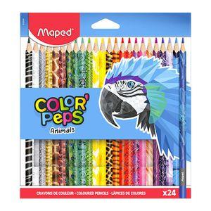 Lápices de Colores Maped Color'Peps Animals Triangular de 24 Colores