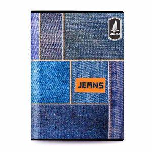 Cuaderno Cosido Mediano Raya Ancha Jeans de 200 Páginas