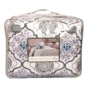 Comforter Luxury Clinton Estampado 5 Piezas