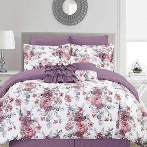Comforter Home Accents Estampado Floral de 5 Piezas