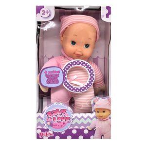 """Muñeco Bebé Baby Love 12"""" Con Sonido"""