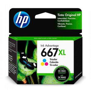 Cartucho Tinta HP 667XL Tri-Color Original