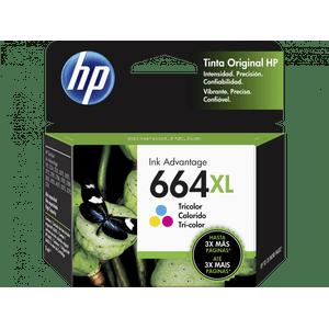 Cartucho Tinta HP 664XL Tri-Color Original