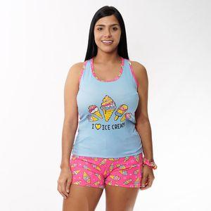 Conjunto de Pijama Short Cisne Para Dama