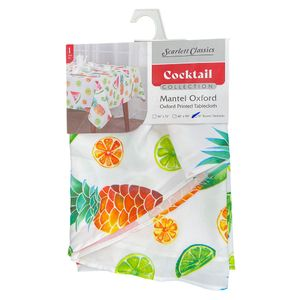 "Mantel de Mesa Scarlett Classics Cocktail Estampado Redondo 72"""