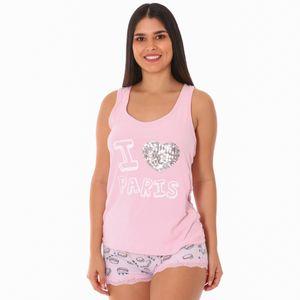 Conjunto de Pijama Short Sleep Junkie Para Dama Talla Grande