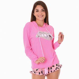 Conjunto de Pijama Short Sleep Junkie Para Dama