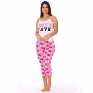 Conjunto de Pijama Capri Morena Rosa Para Dama