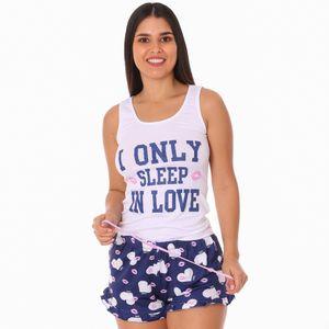 Conjunto de Pijama Short Pink Para Dama