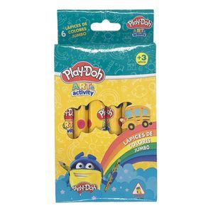 Lapices de Colores Play-Doh Jumbo 6 Piezas