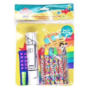 Poster Play-Doh 100 cm x 12 cm Con 6 Crayones